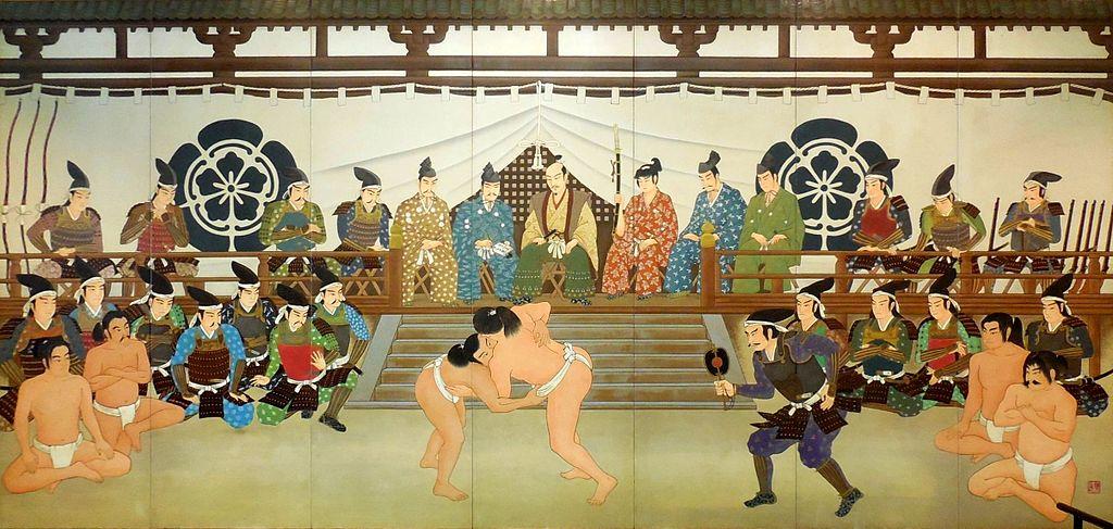 相撲を楽しむ織田信長