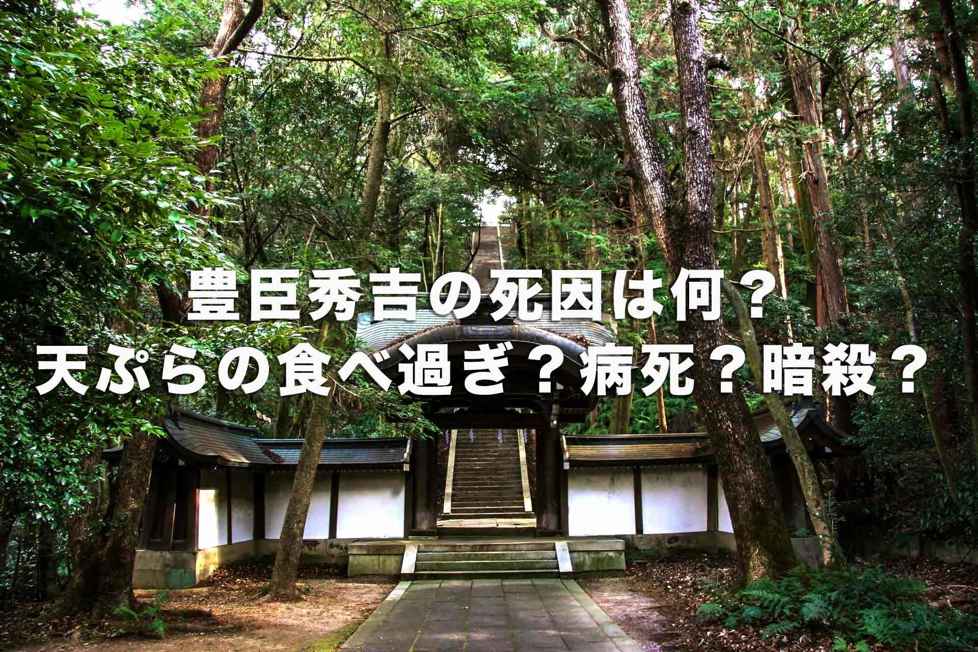 豊臣秀吉の死因は天ぷらの食べ過ぎ?病死?暗殺?晩年はどう過ごした?最後は?
